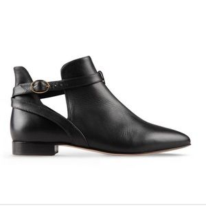 Red Valentino cut out ankle black boots